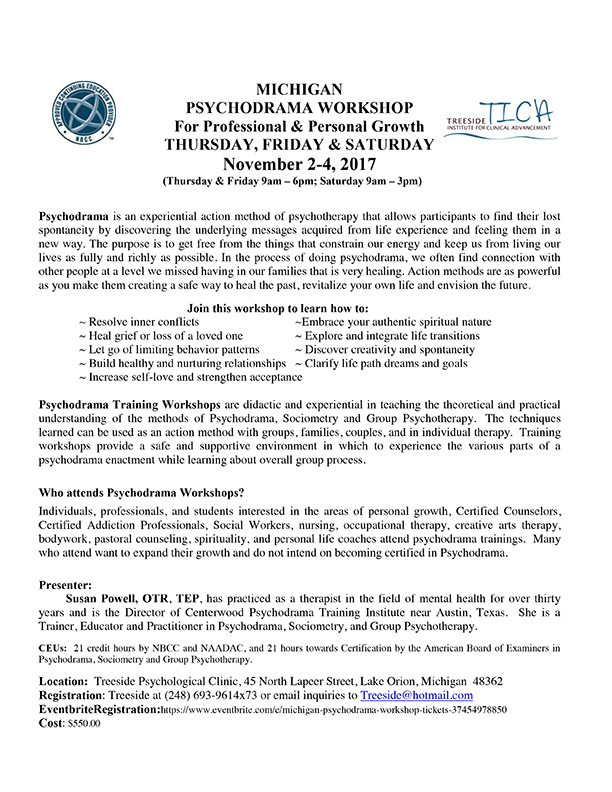 MICHIGAN PSYCHODRAMA WORKSHOP